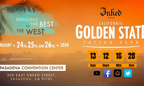 Main image for event titled Golden State Tattoo Expo 2020